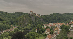 Vranov nad Dyji town with castle in cloudy day Royalty Free Stock Image