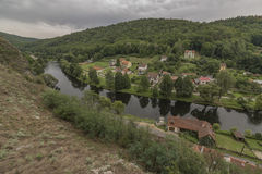 Vranov nad Dyji town with castle in cloudy day Stock Photography