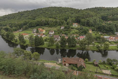 Vranov nad Dyji town with castle in cloudy day Royalty Free Stock Photo