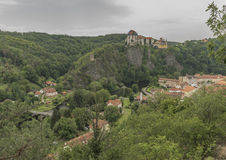 Vranov nad Dyji town with castle in cloudy day Royalty Free Stock Photos