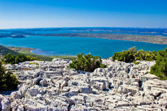 Vransko lake and Kornati islands Royalty Free Stock Photography