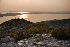 Vransko Lake and Kornati Islands Royalty Free Stock Photo