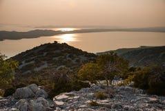 Vransko Lake and Kornati Islands Royalty Free Stock Photos
