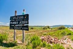 Vransko Lake. Photo of Vransko Lake, ornithological reserve in Croatia Royalty Free Stock Photos