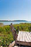 Vransko Lake. Photo of Vransko Lake, ornithological reserve in Croatia Stock Image