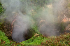 Vrata Ada Gate Hell Geyser in Valley of Geysers. Stock Photos