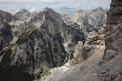 Vrata Valley in the Julian Alps, Slovenia. Stock Photography