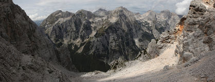 Vrata Valley in the Julian Alps, Slovenia. Royalty Free Stock Photos