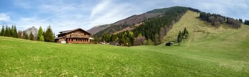 Cottage on Grun, Slovakia royalty free stock photography