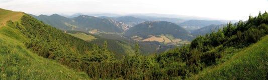 Vratna valley in Mala with Tiesnavy Fatra mountains royalty free stock photography