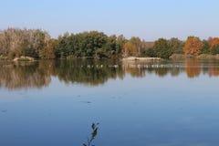 Vrbenský pond near české Budéjovice, South Bohemia. Czech republic stock photography