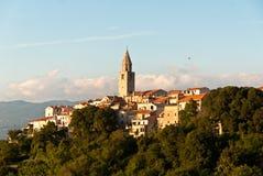 Vrbnik, île de Krk, Croatie photos libres de droits