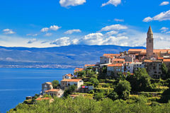 vrbnik för town för adriatic ökrk Royaltyfria Bilder