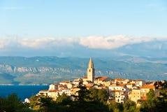 vrbnik krk острова Хорватии Стоковое фото RF