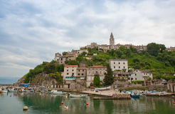 Vrbnik town Stock Photo
