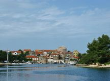 Vrboska on the island Hvar Royalty Free Stock Image