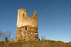Vrdnik tower. Vrdnik Serbian Cyrillic: Врдник, pronounced [vř̩dniːk] is a village in northern Syrmia, in the Vojvodina province of Serbia. It is located stock photo
