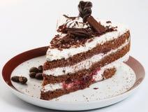 ?vre for f?r chokladcakeclose arkivfoton
