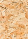 Övre textur för slut av det orienterade trådbrädet (OSB) Arkivbilder