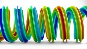 Vred den färgrika lutningen för regnbågen den spiral tolkningen för form 3D Fotografering för Bildbyråer