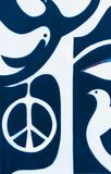 Vrede aan de wereld het vredesteken royalty-vrije stock foto