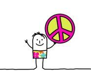 Vrede & liefde stock illustratie