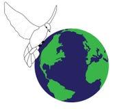 Vrede in de wereld stock illustratie