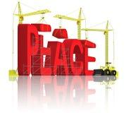 Vrede die eindeoorlog of agressie maakt Stock Afbeelding