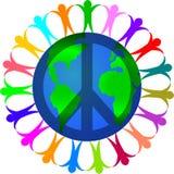 Vrede in een Wereld van Diversiteit vector illustratie