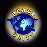 Vrede en de Eenheid van de Wereld royalty-vrije illustratie