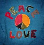 Vrede en liefde Stock Foto