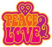 vrede en liefde royalty-vrije illustratie