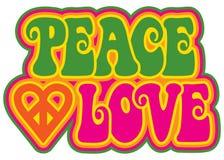 vrede en liefde Stock Foto's