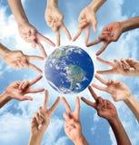 Vrede en Multiraciaal concept Stock Afbeelding