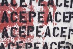 Vrede Graffiti royalty-vrije stock foto