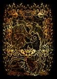vrede Latinsk ilska för ordIra-hjälpmedel Begrepp för sju dödliga synder på svart bakgrund royaltyfri illustrationer