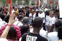 Vrede maart voor Michael Brown Stock Fotografie