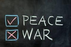 Vrede of oorlog Royalty-vrije Stock Foto
