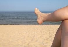 Vrede op het strand. stock afbeeldingen