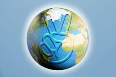 Vrede ter wereld Royalty-vrije Stock Fotografie