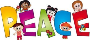 Vrede van kinderen stock illustratie