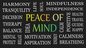 Vrede van mening, motieven en inspirational concept stock illustratie