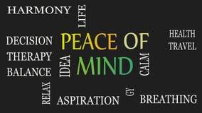 Vrede van mening, motieven en inspirational concept Zwarte achtergrond vector illustratie