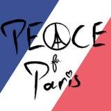 Vrede voor de Vectorillustratie van Parijs Royalty-vrije Stock Foto's