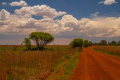 Vredefort Dome landscape in South Africa. Landscape in the Vredefort Dome in the Freestate province of South Africa image with copy space royalty free stock photography