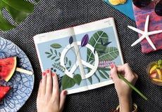 Vredes Kalme Vrijheid Harmony Solitude Graphic Concept royalty-vrije stock foto's