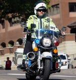 Vredesambtenaar On Motorcycle Royalty-vrije Stock Fotografie