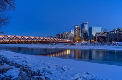 Vredesbrug in Calgary Royalty-vrije Stock Fotografie