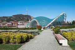 Vredesbrug in Tbilisi Stock Foto