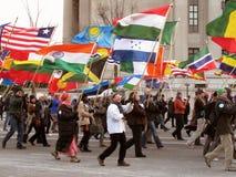 Vredescorps Maart Stock Afbeeldingen
